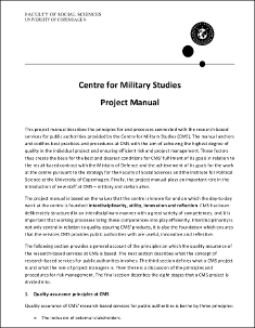 Centre for Military Studies Project Manuel