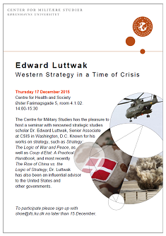 Invitation til seminaret Western Strategy in a Time of Crisis