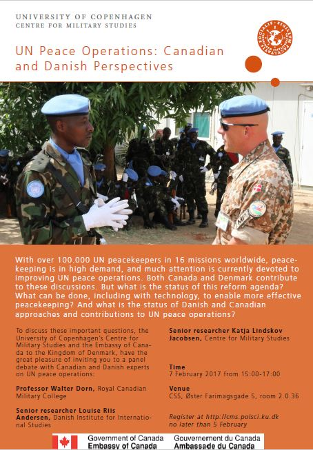 "Invitation to the Event ""UN Peace Operations: Canadian and Danish Perspectives"