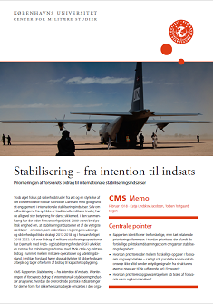 CMS memo: Stabilisering - fra intention til indsats