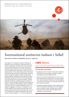CMS memo: International antiterror-indsats i Sahel